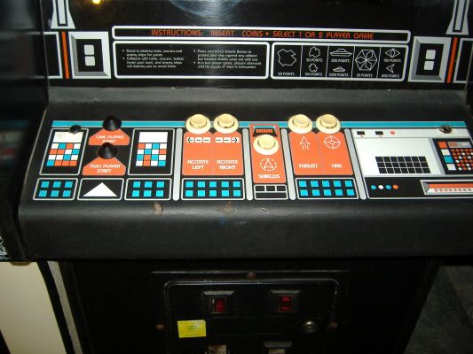 Asteroids Deluxe - control panel