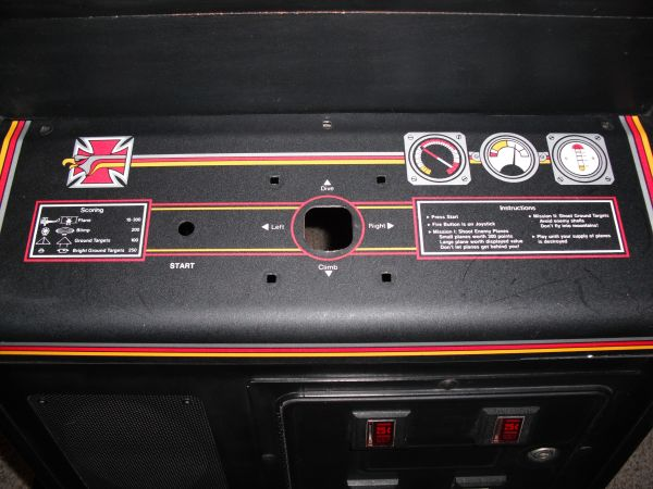 Red Baron - cleaned control panel