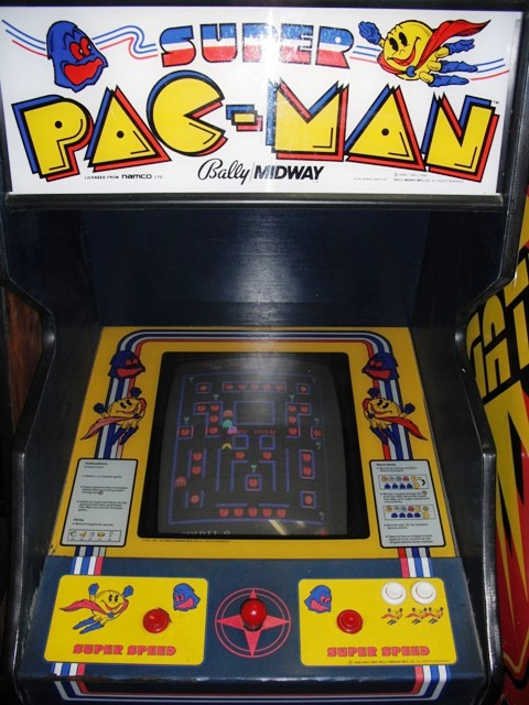Midway Super Pac-Man - top