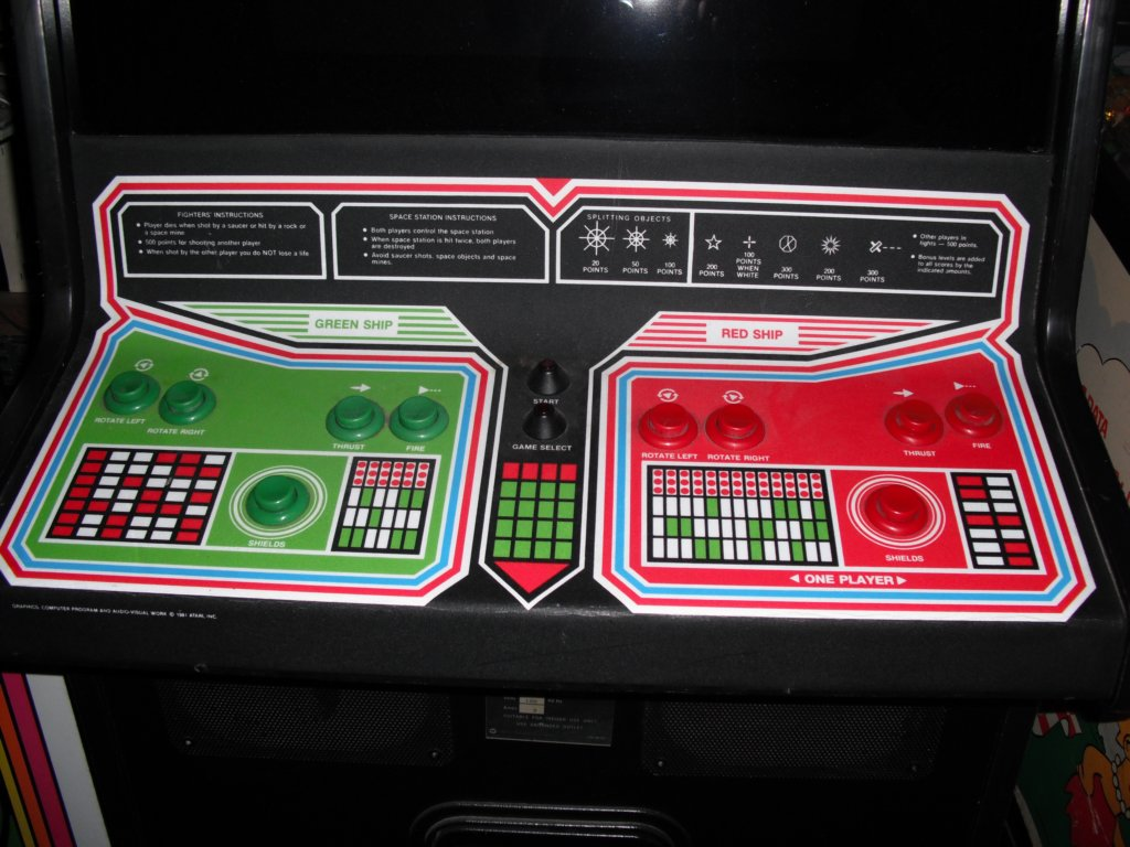 Space Duel - control panel